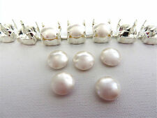 5 White Swarovski Crystal Cabochon Pearls 5817 8mm