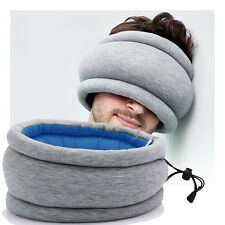 Micro Bead Ostrich Travel Pillow Sleep Mask Ear Muff Portable Napping Cushion