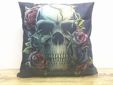 1x Simple painting Flower skull Home Decor sofa Cushion Covers Pillow Case 18X18