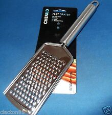 CHEF AID STAINLESS STEEL HAND CHEESE GRATER SLICER NUTMEG ZESTER