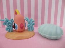 LPS Littlest Pet Shop PEACH TROPICAL ANGEL FISH SEA WEED, CLAM SHELL SEASHELL
