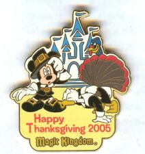 WDW - Happy Thanksgiving Turkey Hunt 2005 Mickey Mouse and Donald Duck Pin