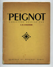 1937 A. M. Cassandre PEIGNOT Type 32-pg Speciman Book from Deberny et Peignot