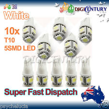 LED 10x T10 WHITE 5SMD 5050 for Car Side Light Parker Bulb Lamp DC 12V