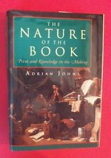 Adrian Johns - The Nature Of The Book - Print & Knowledge In The Making - hbdj