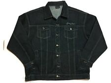 SEAN JOHN Jean Trucker Jacket XL Charcoal Black Denim Coat