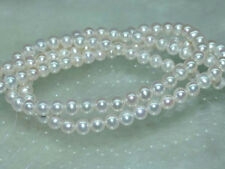 "Natural 7-7.5mm white freshwater pearls loose beads 15""AAA"