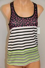 New Roxy Swimsuit Bikini Cover Up Cut back  Top  Size  XS Multi