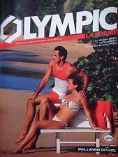 PUBLICITÉ OLYMPIC LA FORME DÉBARDEUR SURF BEAM BANDEAU BERMUDES - ADVERTISING