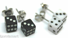 2 Pair New Fashion Women Lady Elegant Punk Dice Ear Stud Studs Earrings