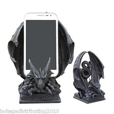 Crouching Dragon Gargoyle Cell Phone Holder Figurine Samsung Iphone Statue