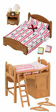 2 Sylvanian Families Sets - 2 Beds - Single Bunk Bed and Semi-Double Bed