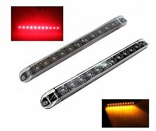 "1 Clear Lens Red and Amber 17"" LED Light Bar Trailer Truck Stop Turn Tail Signal"