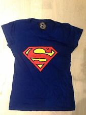 DC Comics Original Ink Blue Superman Women's T-Shirt Small