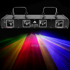 760mW 4 Lens 4 Beams Laser Red Green Blue Yellow Light DMX 512 Stage Auto Sound