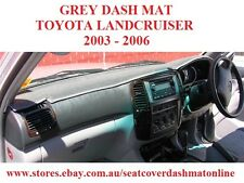 DASH MAT, DASHMAT, DASHBOARD COVER FIT TOYOTA LANDCRUISER 100ser 2003-2006 GREY