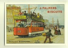 ad2521 - Huntley & Palmers Biscuits - Tram - modern poster advert postcard