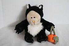 Starbucks 2005 Halloween Black Kitty Cat Bearista Plush Toy Doll