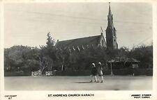 1920s? Real Photo Postcard; St. Andrews Church, Karachi, Pakistan, Unposted