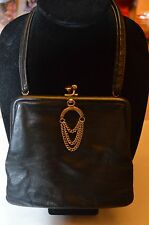 leather evening bag  made in england