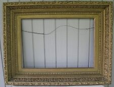 Victorian? Fancy Antique Pale Gold Picture Frame Gesso Wood For 25X17 Painting
