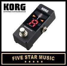 KORG PITCHBLACK MINI PEDAL CHROMATIC GUITAR & BASS TUNER PITCH BLACK PBMINI NEW