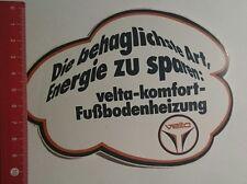Aufkleber/Sticker: Velta Komfort Fußbodenheizung die behaglichste (121116133)