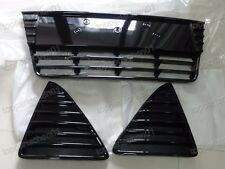 Gloss Black Front Lower Radiator & Side Grilles Kits for Ford Focus 2012-2014