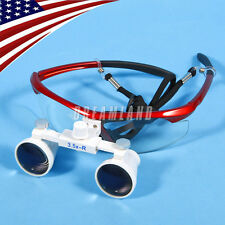 USA!!! Dentist Dental Surgical medical Binocular Loupes Red