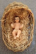 """Very Tiny Baby Jesus 2"""" With Crib Hand-made ...Beautiful gift for Christmas"""