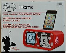NEW - Disney iHome Minnie Mouse Dual Alarm Clock Speaker System Model DM-H22.3