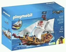 PLAYMOBIL PIRATES 5678 RED SERPENT PIRATE SHIP AGE 4+ 74 PIECES FREE POSTAGE