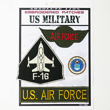 US AIRFORCE F-16 MILITARY Iron-On Patch Super Set #084 - FREE POSTAGE!