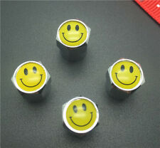 4PCS Smile Tire Wheel Rims Stem Air Valve Caps Tyre Cover Car Truck Bike