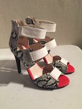 NOT ZARA Rock & Republic Strappy Snakeskin Heels 6 sandals sexy career night out