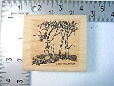 Stampin Up Rubber Stamp Birch Trees 1997 Retired