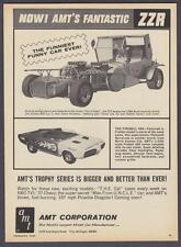 """1967 George Barris """"Out of Sight"""" ZZR & """"Fireball 500"""" Movie Cars photo print ad"""