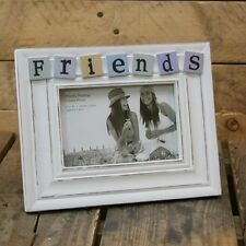4 X 6 Shabby Chic White Washed Tiled Friends Photo Picture Frame