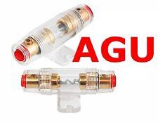 AGU Sicherungshalter mit 60 A Sicherung 6 10 16 mm² Kabel Carhifi KFZ Glas Gold