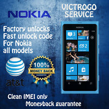 UNLOCK CODE FOR AT&T ALL MICROSOFT/NOKIA LUMIA 640 520 635 830 920 925  1520