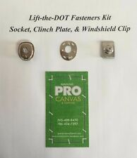 "Lift The Dot Fasteners Kit Socket, Clinch Plate, & 3/4"" Windshield Clips 5 Sets"