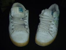 Used DC shoes womens size 6 white with blue/green  RB 11515