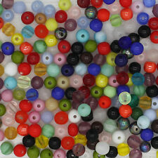 Round 4mm Czech Glass Druk Bead Mix Assorted Colors & Finishes pk/250