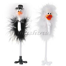 1 Pair Bride and Groom Ostrich Feather Wedding Reception Guest Book Signing Pen