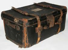 Edwardian LEATHER Bound TRAVEL TRUNK-Gratis P&P [ pl1901 ]