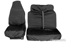 2+1 SEAT COVERS FORD TRANSIT EXTRA HEAVY DUTY RUGGED BLACK WATERPROOF VAN