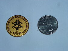 2002 Olympic Winter Games Salt Lake City PIN Sticker GOLD Metal