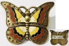broche bijou rétro papillon bijou vintagecloisonné émail couleur cristal * 4934