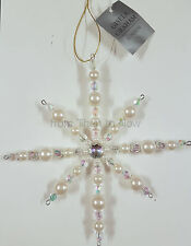 Gisela Graham Crystal Snowflake Christmas Tree Xmas Diamante Decoration Chic