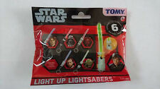 Starwars Light Up Lightsabers Tomy Light Party Bag Key Chain Disney Fun For Kids